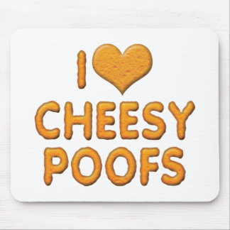 I Love Heart Cheesy Poofs Mouse Pad