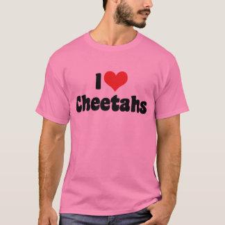 I Love Heart Cheetahs T-Shirt