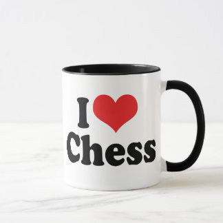 I Love Heart Chess Mug