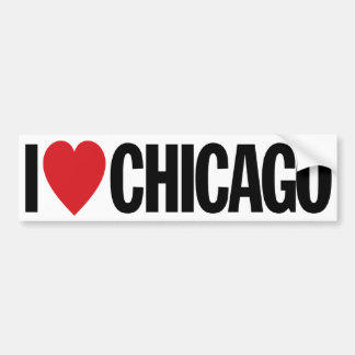 "I Love Heart Chicago 11"" 28cm Vinyl Decal"