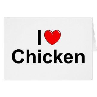 I Love (Heart) Chicken Card