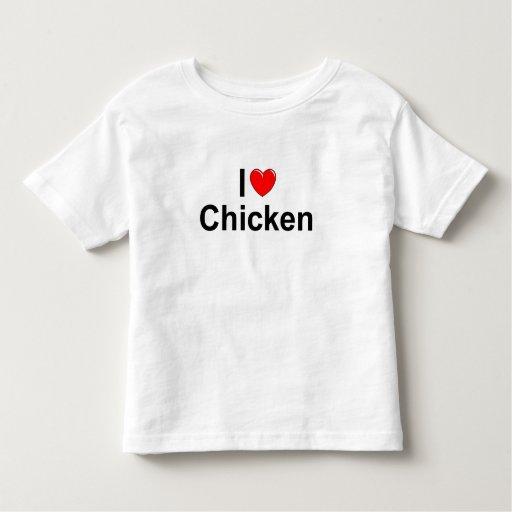 I Love (Heart) Chicken Toddler T-shirt