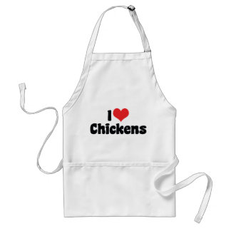 I Love Heart Chickens - Chicken Lover Adult Apron
