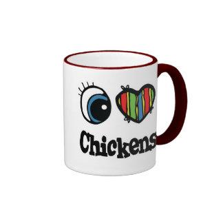 I Love (Heart) Chickens Mugs