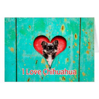 I Love Heart Chihuahua Dog Card