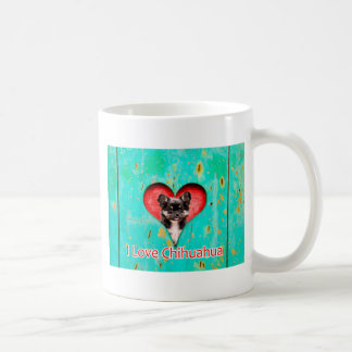 I Love Heart Chihuahua Dog Coffee Mug