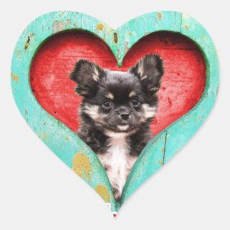 I Love Heart Chihuahua Dog Heart Sticker