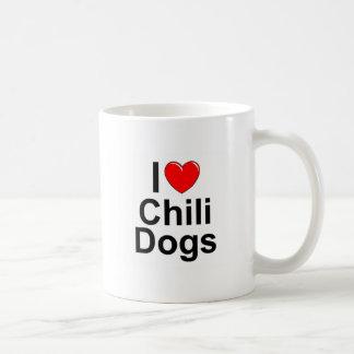 I Love (Heart) Chili Dogs Classic White Coffee Mug