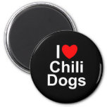 I Love (Heart) Chili Dogs Magnet
