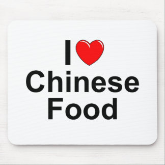 I Love (Heart) Chinese Food Mouse Pad
