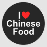 I Love (Heart) Chinese Food Round Sticker