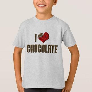 I Love Heart Chocolate - Candy Bar Cocoa Lover T-Shirt