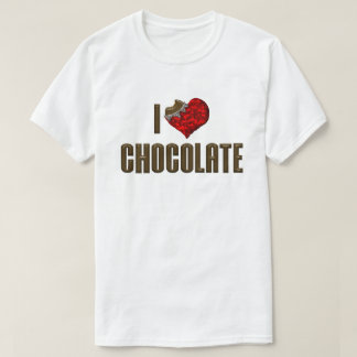 I Love Heart Chocolate - Candy Bar Cocoa Lover T-Shirt