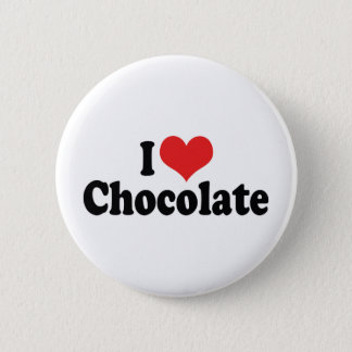 I Love Heart Chocolate - Candy Lover Pinback Button