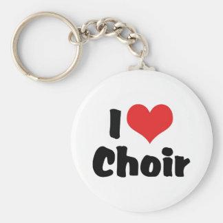 I Love Heart Choir Keychain