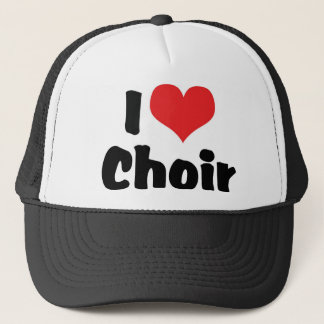 I Love Heart Choir Trucker Hat