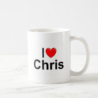 I Love (Heart) Chris Coffee Mug