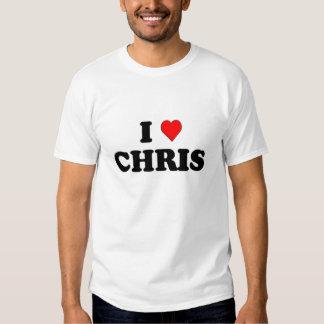 I Love (heart) Chris Tee Shirt