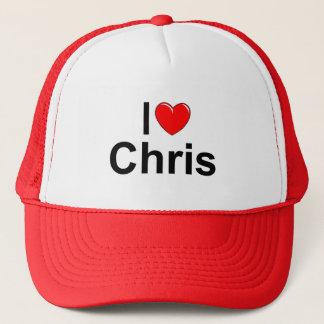 I Love (Heart) Chris Trucker Hat