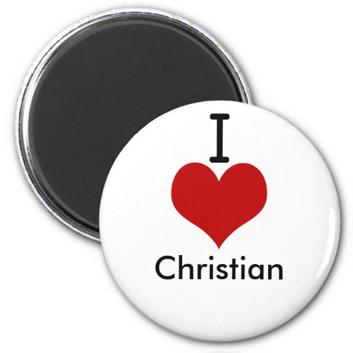 I Love (heart) Christian Magnets