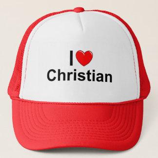 I Love (Heart) Christian Trucker Hat