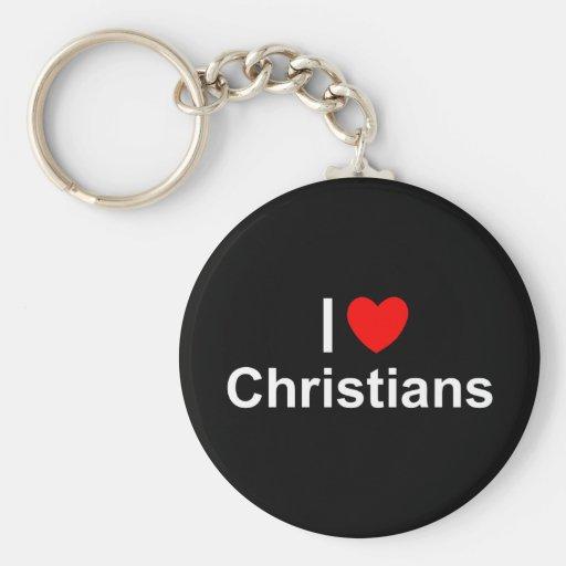 I Love (Heart) Christians Keychain