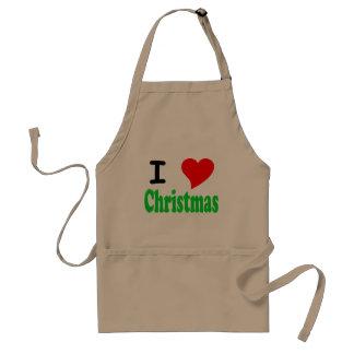 I Love (Heart) Christmas BBQ Apron - Customized