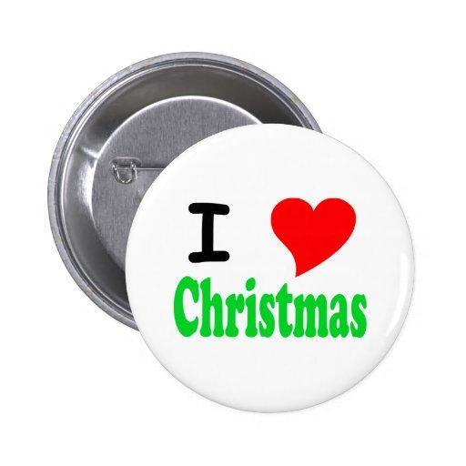 I Love (Heart) Christmas Button