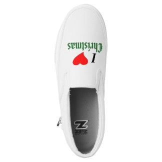 I Love (heart) Christmas Slip-On Sneakers