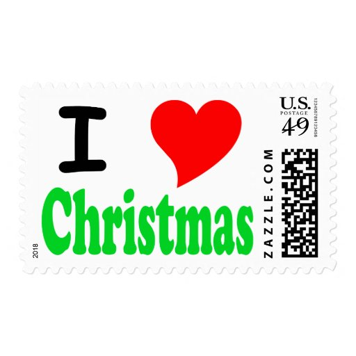 I Love (Heart) Christmas Stamps
