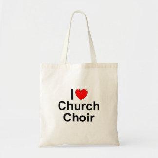 I Love (Heart) Church Choir Canvas Bags
