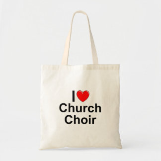 I Love (Heart) Church Choir Budget Tote Bag