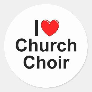 I Love (Heart) Church Choir Classic Round Sticker