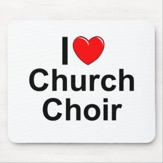 I Love (Heart) Church Choir Mouse Pad