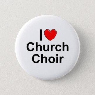 I Love (Heart) Church Choir Pinback Button