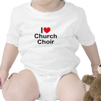 I Love (Heart) Church Choir Baby Bodysuit