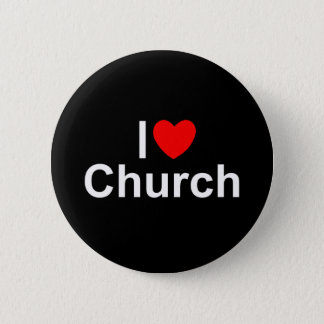 I Love (Heart) Church Pinback Button