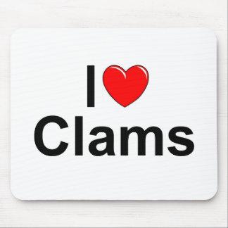 I Love (Heart) Clams Mouse Pad