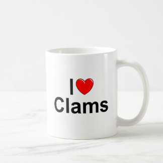 I Love (Heart) Clams Classic White Coffee Mug