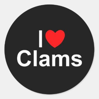 I Love (Heart) Clams Sticker