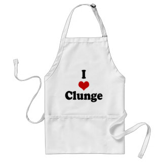I LOVE {HEART} CLUNGE ADULT APRON