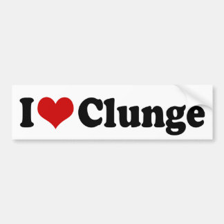 I LOVE {HEART} CLUNGE BUMPER STICKER