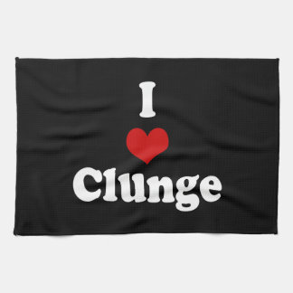 I LOVE {HEART} CLUNGE HAND TOWEL