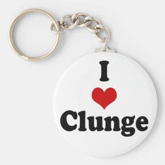 I LOVE {HEART} CLUNGE KEY CHAINS