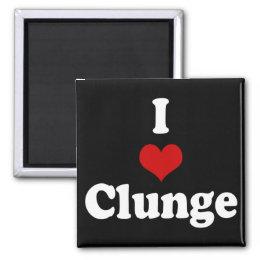 I LOVE {HEART} CLUNGE MAGNET