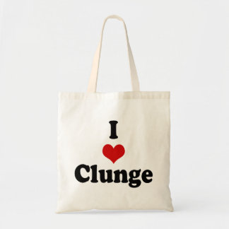 I LOVE {HEART} CLUNGE TOTE BAG