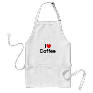 I Love (Heart) Coffee Adult Apron