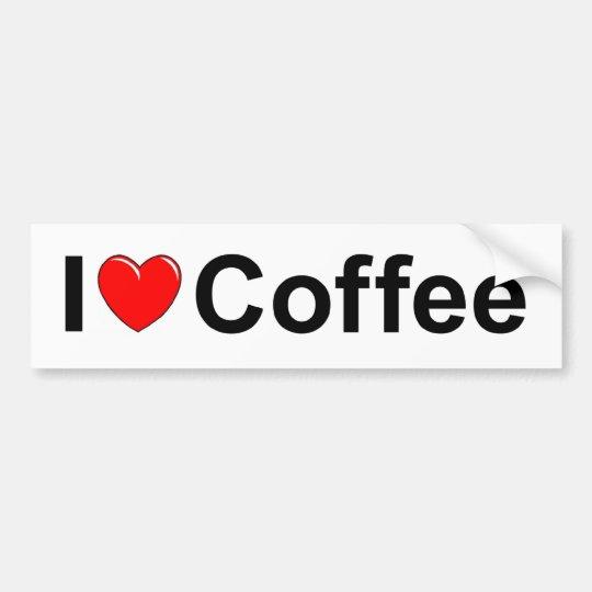 I Love (Heart) Coffee Bumper Sticker