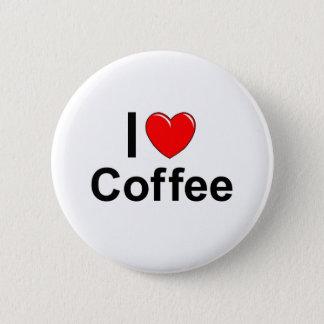 I Love Heart Coffee Button
