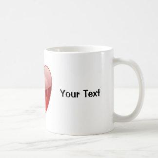 I Love Heart Coffee Cup Mug